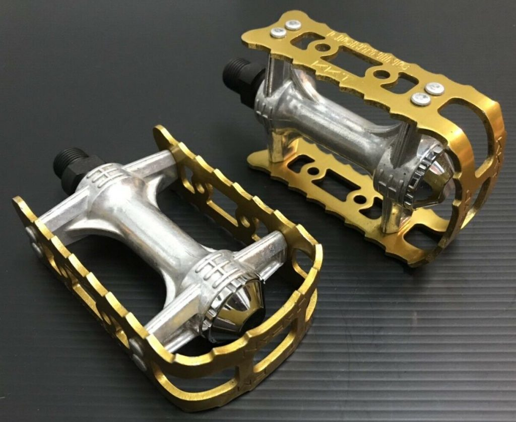 NOS KKT Lightning Pedals Gold old school BMX