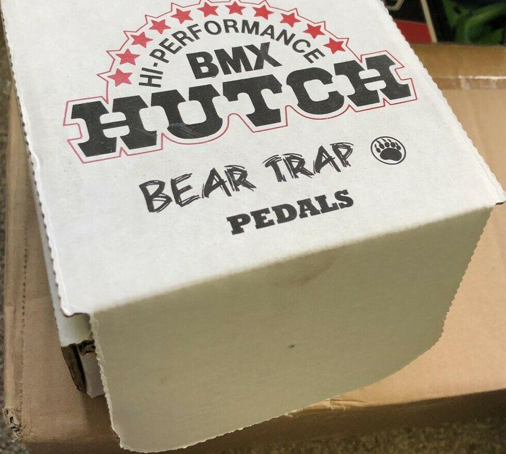 Hutch BMX Pedals Blue , vintage BMX
