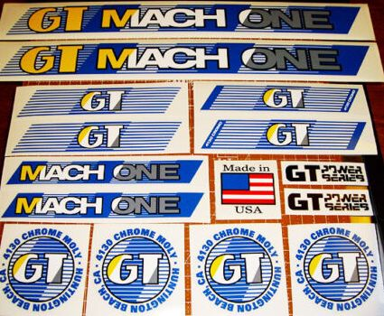 gt mach one bmx stickers