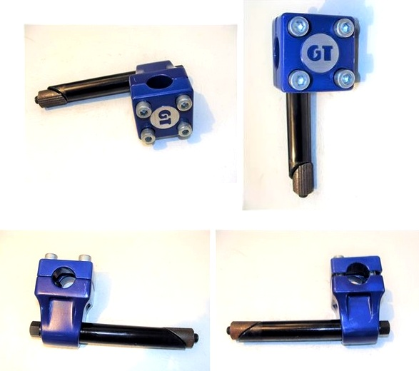 GT Mallet Gooseneck Blue BMX Freestyle stem