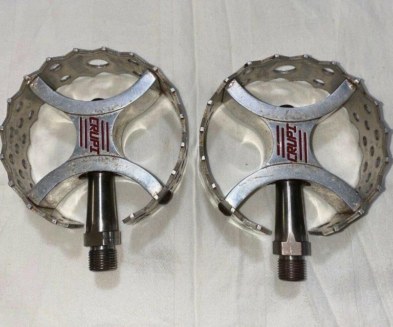 Crupi Bmx Pedals Old School 9/16 Beartrap Titanium Spindles