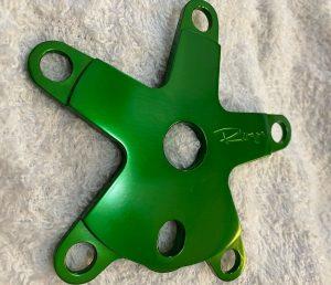 Bullseye BMX Spider anodized Green Roger